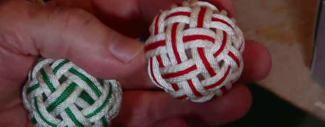 How to make a 4 bight, 5 lead Turks Head knot